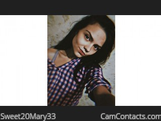 Webcam model Sweet20Mary33 from CamContacts