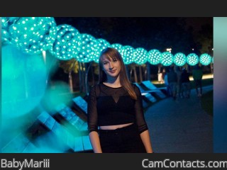 Webcam model BabyMariii from CamContacts