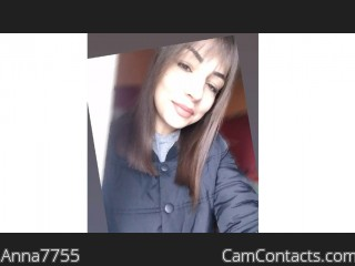 Webcam model Anna7755 from CamContacts