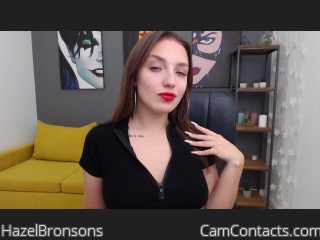 Webcam model HazelBronsons from CamContacts