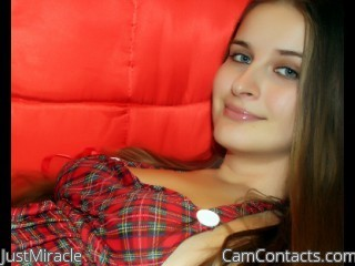 Webcam model JustMiracle from CamContacts